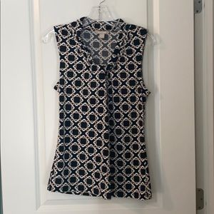 Banana Republic Geometric Sleeveless Blouse (S)